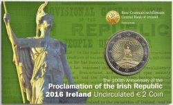 Ireland 2016 2 euro Republic coincard
