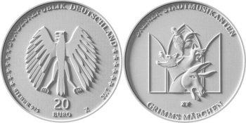 Germany 2017. 20 euro. Bremer Stadtmusikanten