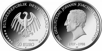 Germany 2017 20 euro Johann Joachim Winckelmann