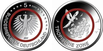 Germany 2017. 5 euro. Tropische Zone