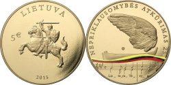Литва 2015. 5 евро. «25-летие восстановления независимости Литвы»