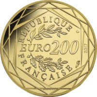 France 2017. 200 euro. Jean-Paul Gaultier. obv