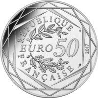 France 2017. 50 euro. Jean-Paul Gaultier. obv