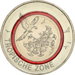 Germany 2017. 5 euro. Tropical Zone