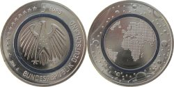 Germany 2016. 5 euro. Planet Erde
