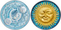 Niue 2017 $5 Sun
