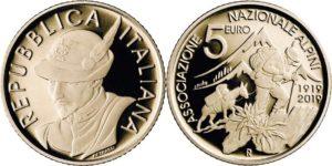 Italy 2019 5 euro. Associazione Nazionale Alpini
