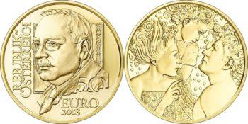 Австрия, 50 евро, «Альфред Адлер»